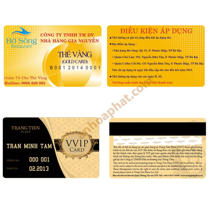 Thẻ VIP - Thẻ Khách hàng 005