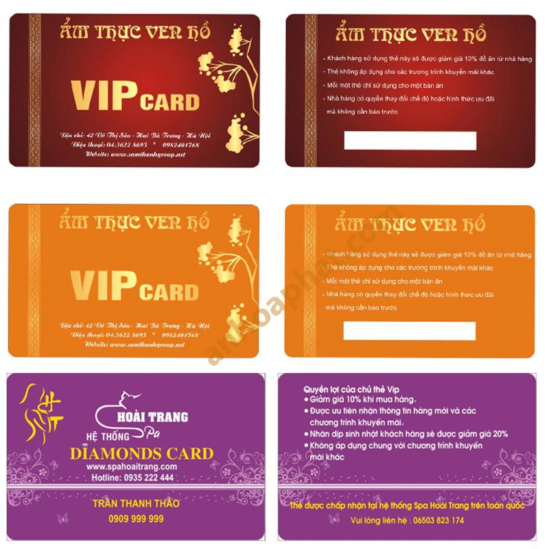Thẻ VIP - Thẻ Khách hàng 003