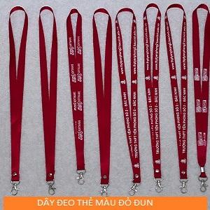 Mẫu dây đeo màu đỏ đun