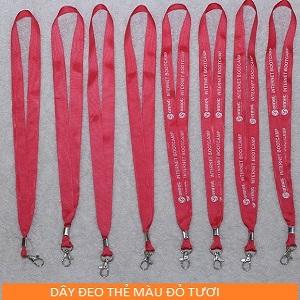 Mẫu dây đeo màu đỏ tươi