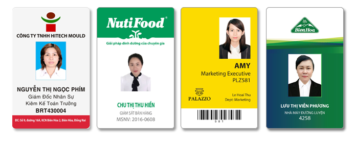 thẻ nhân viên văn phòng